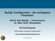 MySQL Konfiguration - die wichtigsten Parameter - FromDual