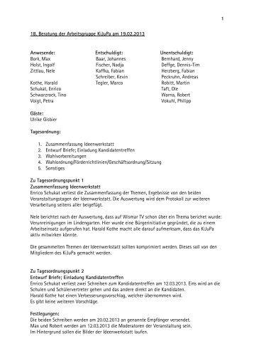 2013_02_19_protokoll_18.Sitzung - KiJuPa Wismar