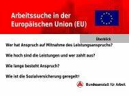 Arbeitssuche in der Europäischen Union (EU) - Deutsche ...