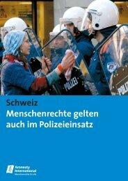 Polizeibericht Schweiz, Juni 2007: Kurzfassung - Amnesty ...