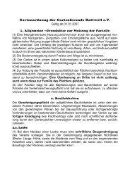 Gartenordnung der Gartenfreunde Rottweil e.V.