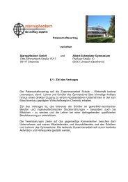 Patenschaftsvertrag zwischen Starragheckert Gmbh und Albert ...