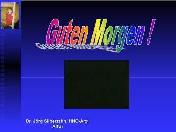 Dr. Jörg Silberzahn, HNO-Arzt, Aßlar - HNO-Praxis Asslar Dr ...