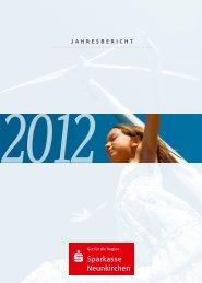 Gesamt-Jahresbericht 2012 - Sparkasse Neunkirchen