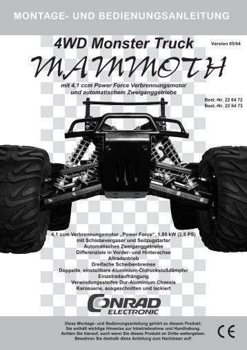 4WD Monster Truck 1:6 - Produktinfo.conrad.com
