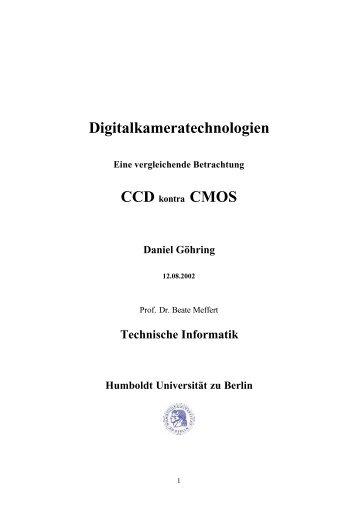 Digitalkameratechnologien - Eine vergleichende Betrachtung CCD ...