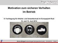 Motivation zu sicherem Verhalten