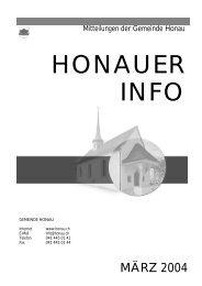 Ausgabe März 2004 - Gemeinde Honau