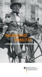 Nachhaltige Mobilität - Leitlinien des Bundesumweltministeriums
