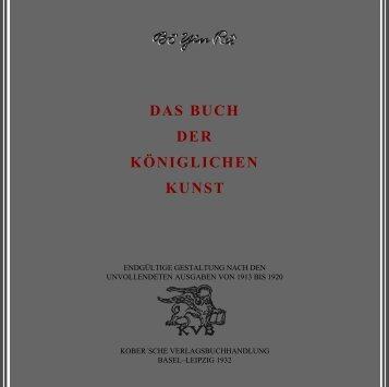 Das Buch der königlichen Kunst - boyinra