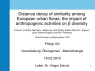 Distance decay of similarity among European urban floras: the ...