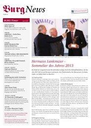 Hermann Lankmaier - Sommelier des Jahres 2013 - Burg Hotel ...