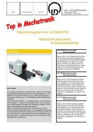Maschinensystem von LD DIDACTIC Elektrische Maschinen im ...