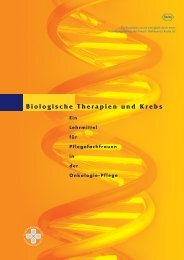 Biologische Therapien und Krebs - the European Oncology Nursing ...