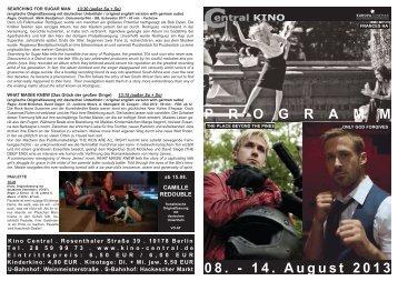 Das aktuelle Programm als pdf - Central-Kino