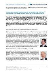 Pressemitteilung Juni 2010 - Versicherungsforen Leipzig