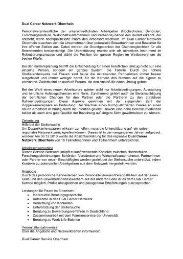 Dual Career Netzwerk Oberrhein - Kompetenzzentrum Beruf ...