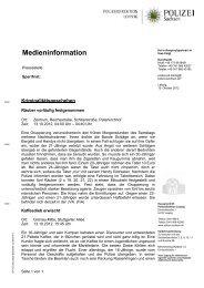 Medieninformation [Download *.pdf, 87.41 KB] - Polizei Sachsen