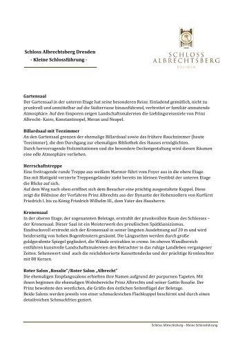 Schloss Albrechtsberg Dresden - Kleine Schlossführung -