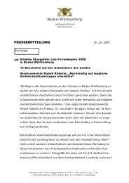 Staugefahr zu Ferienbeginn 2008 - Polizei Baden-Württemberg