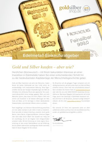 Edelmetall-Einkaufsratgeber - Gold-Silber-Shop