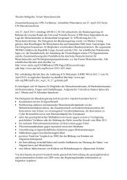 Bericht - Forum Menschenrechte