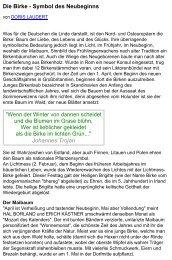 Die Birke - Symbol des Neubeginns - Bayerische Landesanstalt für ...