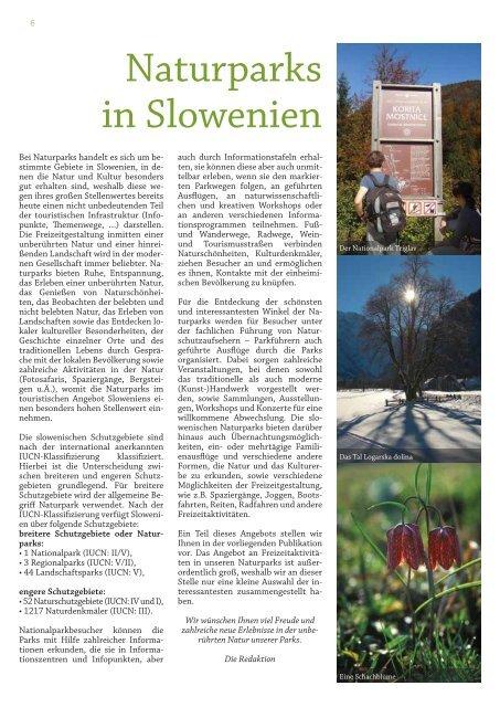 NATUR PA R K S IN SLO W ENIEN - Slovenia