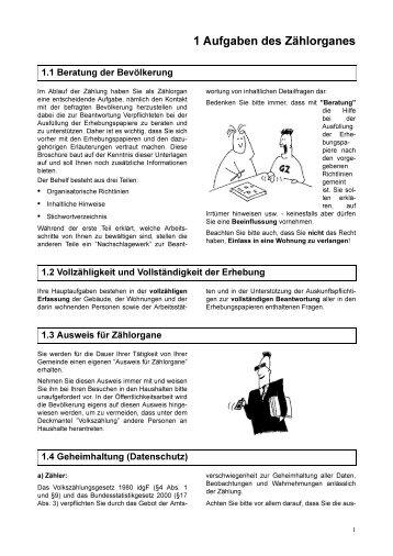 1 Aufgaben des Zählorganes - UNECE