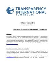 The press review - Transparency International