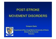 Post-stroke movement syndromes