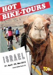 Flyer Israel 2013 - Hot Bike Tours