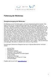 Fütterung der Muttersau.pdf - AG für Tiergesundheit