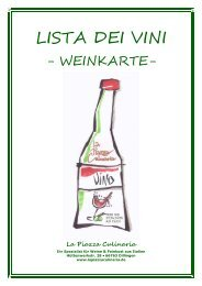 Unsere aktuelle Weinkarte - La Piazza Culinaria