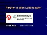 ARGE Landkreis Regensburg Ulrich Merl - Die Beauftragte für die ...