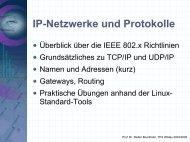 Netzwerksmanagement - IP-Netzwerke und Protokolle