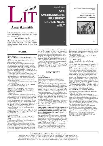 Amerikanistik - LIT Verlag