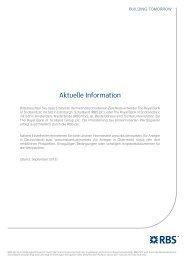 Aktuelle Information - RBS Markets - Österreich