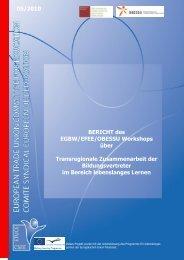 BERICHT des EGBW/EFEE/OBESSU Workshops über ...