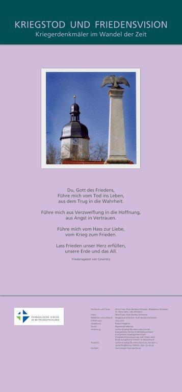 KRIEGSTOD UND FRIEDENSVISION - Kriegerdenkmäler im ...