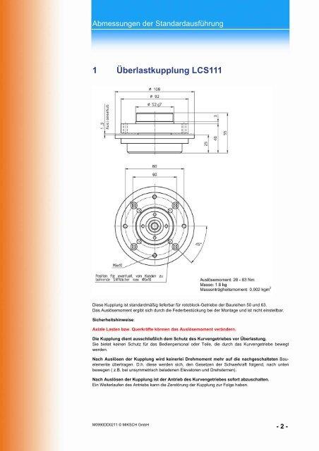 Überlastkupplung-LCS - Miksch GmbH