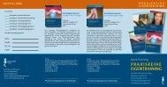 Der Flyer Praxisreihe Eigentraining als PDF zum Download