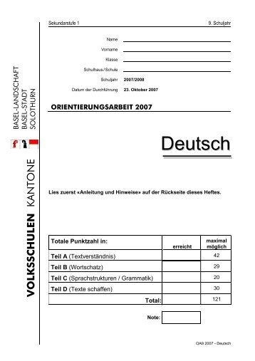 OA9 2007 Deutsch - AVS
