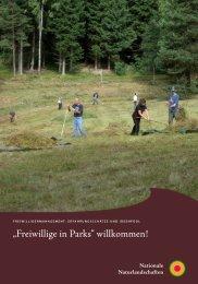"""""""Freiwillige in Parks"""" willkommen! - EUROPARC Deutschland"""