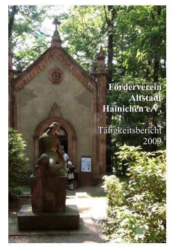 Tätigkeitsbericht 2009 - Förderverein Altstadt Hainichen eV