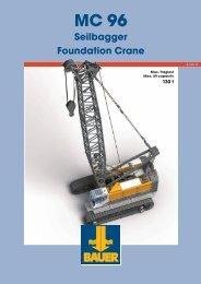 MC 96 Seilbagger Foundation Crane - BAUER-Pileco