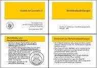 Ähnlichkeitsabbildungen - am Institut für Mathematik der Universität ...