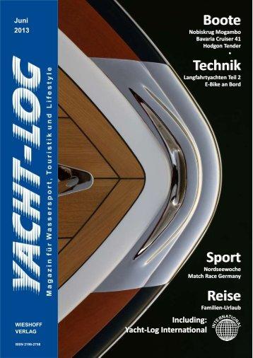 Geringe Dateigröße und Auflösung 96 dpi (ca. 8 MB) - Yacht-Log
