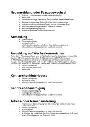 Infos KFZ-Zulassung - WIT - SHV