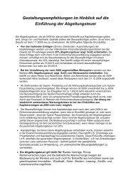 Gestaltungsempfehlungen zur Abgeltungsteuer - Bartmann-stb.de